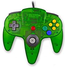 Childhood Mando clásico retro USB Gamepad Joystick estilo N64 para PC MAC verde claro de la selva