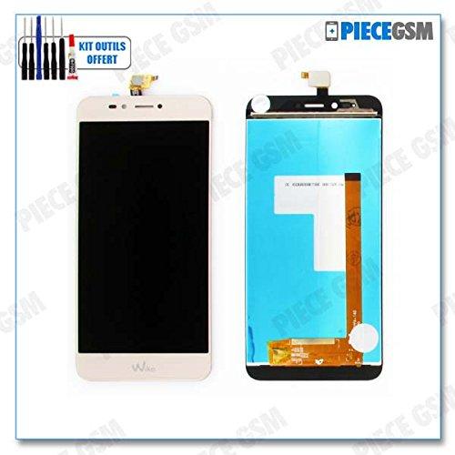 ECRAN LCD + VITRE Tactile pour WIKO UPULSE Or + Outils + Colle B7000