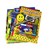 #5: Best Return Gift For Kids Birthday Party Set Of 12 Colouring & Stickers Book + Set Of 12 Wax Crayons +Set Of 12 Stationary Set +Set Of 12 Happy Birthday Printed Poly Bags Best Goodies Bag