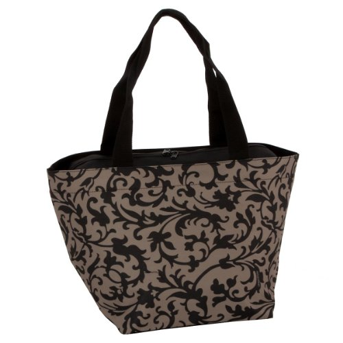 Reisenthel shopper m, borsa per la spesa, per lo shopping, baroque taupe/fantasia marrone chiaro-nero, zs7027