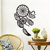 Símbolo indio de vinilo pegatinas de pared plumas calcomanías de pared decoración para...