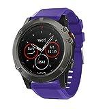 TOPsic Armband für Fenix 5X ,Sportuhr Silikon Sportarmband Uhr Band Strap Ersatzarmband Uhrenarmband für Garmin Fenix 5X / Fenix 5X Plus Smartwatch GPS Multisportuhr (Nicht für Fenix 5, 5S)