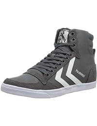Hummel Sneaker Unisex Erwachsene – SLIMMER STADIL HIGH – Freizeitschuh div. Farben - Schuh hoch Leinen / Wildleder – Klassik Turnschuh Comfort Sohle