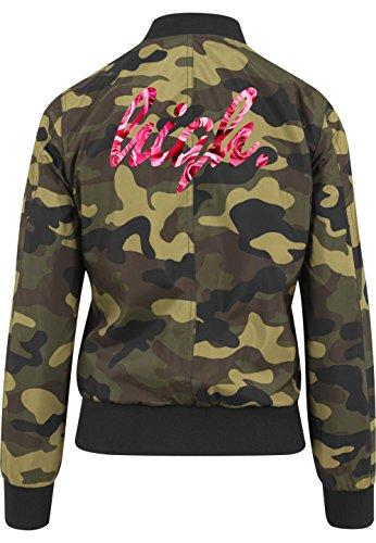 High Roses Bomberjacke Girls Camouflage Certified Freak-S