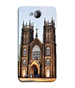 PrintVisa Designer Back Case Cover for Micromax Unite 3 Q372 :: Micromax Q372 Unite 3 (Unique Design Of Famous Church)
