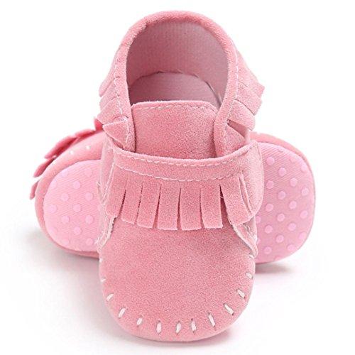 BZLine® Baby Schuhe junge Mädchen newborn Krippe Soft Sole Krippeschuhe Sneakers Pink