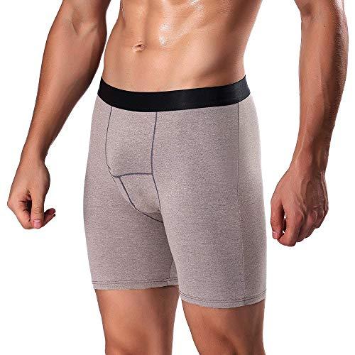 rts Sportboxershorts Lange Gentleman Laufen Unterwäsche Tragen Bein Boxer Briefs Trainingsshorts Unterhosen ()