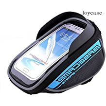 Joycase New Design Waterproof Touch-screen Dual Zipper 2.5L Capacity Mountain Cycling Bicycle Bike Road Front Frame Bag Tube Pannier Rack Trunk Saddle Bag Fit for iPhone 6 6s Plus /LG G4 G3 /Moto X (4-5.5-inch Phone) - Blue