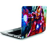 SANCTrix Laptop Skin | Ironman | Avengers | Skin Cover | 14 14.1 14.5 15 15.5 15.6 16 16.5 17 Inch | Combo Pack Of Free Sticker | High Quality | HD Skin | UV Skin | Matte Finished | PVC Vinyl | Scratch Proof | Waterproof | Easy Removable | Dell Lenovo HP