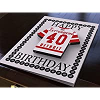 NHL NATIONAL HOCKEY LEAGUE BIRTHDAY CARD - EASTERN CONFERENCE - ANY NAME, ANY NUMBER, ANY TEAM - BRAND NEW ACRYLIC SHIRT DESIGN! (Detroit Red Wings NHL Ice Hockey)