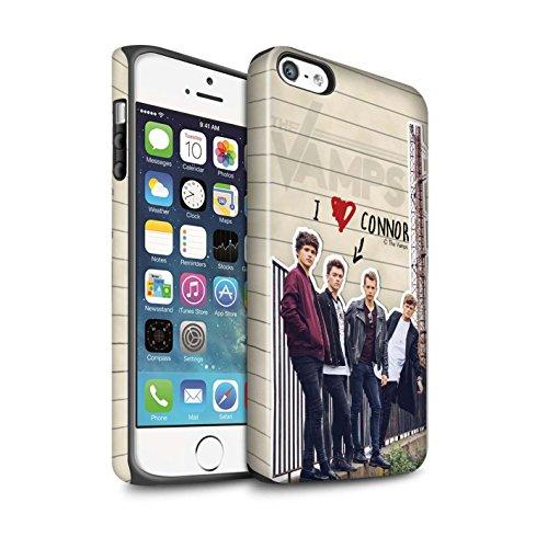 Offiziell The Vamps Hülle / Matte Harten Stoßfest Case für Apple iPhone SE / Pack 5pcs Muster / The Vamps Geheimes Tagebuch Kollektion Connor