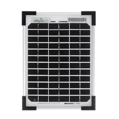 Offgridtec Solarpanel, 5 W, 12 V Solarmodul Monokristallin, 002960 (Solar 12v Panel 50w)