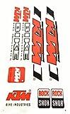 Aufkleber Sticker Set BIKE Orange Schwarz 8 Stück