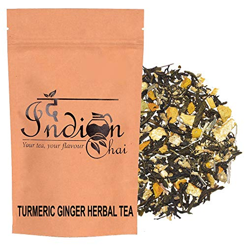 The Indian Chai – Turmeric Ginger Herbal Tea Green Tea Supports Weight Loss 50g