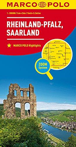 MARCO POLO Karte Deutschland Blatt 10 Rheinland-Pfalz, Saarland 1:200 000: Wegenkaart 1:200 000 (MARCO POLO Karten 1:200.000) 10 Blättern