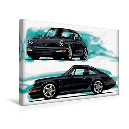 Premium Textile Toile de 45cm x 30cm paysage Porsche 911/964, 45x30 cm par Reinhold Autodisegno