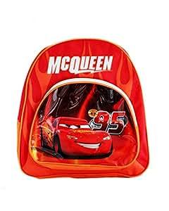 Petit sac à dos Cars pour enfant - Sac d'école maternelle, début primaire Disney Flash McQueen - Dimensions 29x25x8cm