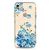 from Vandot 2 Packs Case for iPhone 6S, iPhone 6 Case, Vandot Colorful HD Floral Printing Pattern Lightweight Slim Fit Soft Flexible TPU Crystal Clear Silicone Back Cover Rubber Bumper Drop Protection / Shock-Absorption Protective Case for iPhone 6S 6 4.7 inch - Blue Flowers + Flower Ball Model IP6-CHTPU-SuiHua-2in1-D
