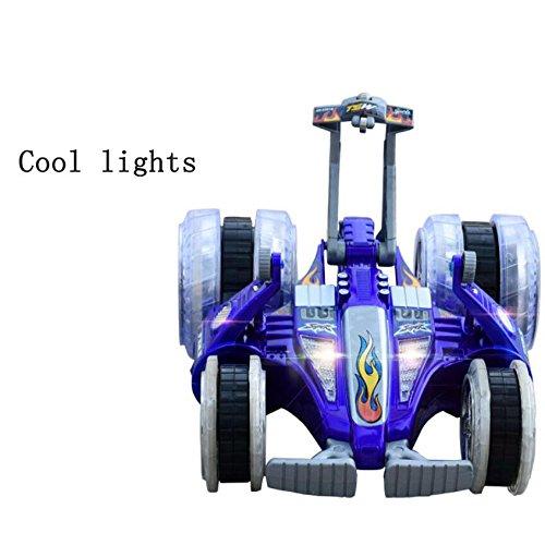 Multi-Modus Aufrecht Stunt Auto Geschwindigkeit Drift Spielzeug Auto Fernbedienung Dump Vier Rad Seiten Flip,Blue