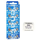 10x Original Renata 394SR936SW Armbanduhr Low Drain Silberoxid 1,55V Akku Batterien