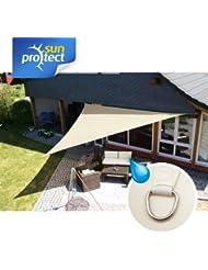 sunprotect Sonnensegel waterproof, 5 x 5 x 5 m, Dreieck, creme (1 Stück)