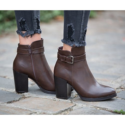 Ideal Shoes, Damen Stiefel & Stiefeletten Braun