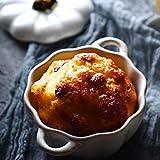SMC Schüssel Pumpkin Bowl Ceramic Bowl Kleine Suppe Schüssel Obstschale mit Deckel Haushalt Reisschüssel Western Food Dessert (Color : Weiß)