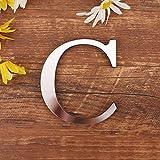 Spiegel Buchstaben Wandaufkleber, 3D DIY Kreativ Acryl 26 Alphabet Buchstaben abnehmbare Wandsticker Decals Für Wohnzimmer Schlafzimmer Wohnkultur (C)