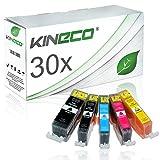 30 Tintenpatronen kompatibel zu Canon PGI-525 CLI-526 PGI525/CLI526 für Canon Pixma MG5350, Pixma iP4950, Pixma MG5250 - PGI-525BK, CLI-526C, CLI-526Y CLI-526BK - Schwarz je 20ml, Color je 10ml