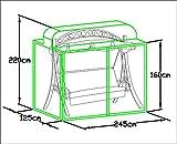 Loywe stabile Schutzhülle für Hollywoodschaukel Gartenschaukel für (LW51)LWG112New