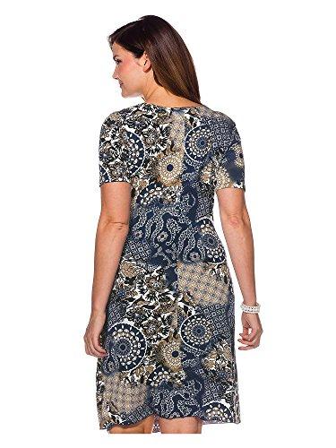 sheego Style Damen Kleid große Größen Dunkelblau
