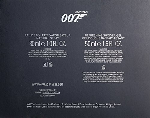 James Bond Geschenkset: EDT Natural Spray + Refreshing Shower Gel, 1er Pack