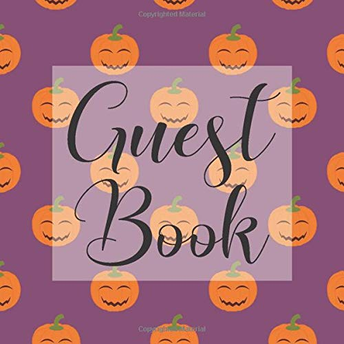 Guest Book: Purple Pumpkin Halloween - Signing Guestbook Gift Log Photo Space Book for Birthday Party Celebration Anniversary Baby Bridal Shower ... Keepsake to Write Special Memories In