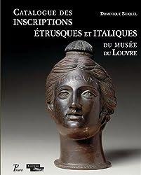 Catalogue des inscriptions étrusques et italiques du musée du Louvre