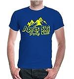 buXsbaum® Herren Unisex Kurzarm T-Shirt Apres Ski Party Crew | Funshirt Skifahren Skifahrer Piste | XXXL royal-neonyellow Blau