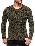 Red Bridge Herren Rundhals Sweater Longsleeve All Over Skull Print Casual Pullover