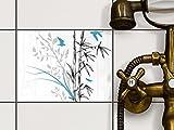 creatisto Fliesen-Dekor | Klebe-Sticker Aufkleber Folie Küchenfliesen Bad-Folie Badgestaltung | 20x15 cm Design Motiv Bamboo 1-1 Stück