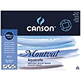 Canson 200006545 Montval Aquarellpapier, 30 x 40 cm, naturweiß