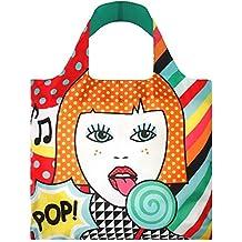 Loqi PO.LO Pop - Borsa shopper con design artistico, motivo: Lollipop