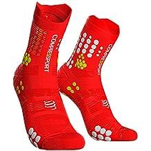 Compress port Hombre Trail Sock Red/White unidad de compresión Calcetines, Rojo/Blanco, T4