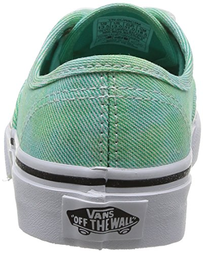 Vans K Authentic Sparkle, Baskets mode mixte enfant Bleu (Mint)