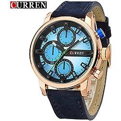 CURREN New Men's Watch Luxury Brand Fashion Waterproof Sport Blue Dial Wrist Watch 8170G
