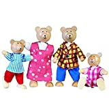 Goki 51700 - Biegepuppen Bärenfamilie