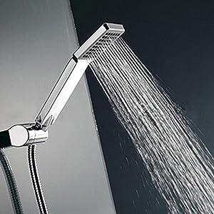 Woopower – Cabezal de ducha cuadrado de alta presión, ducha de mano universal, ahorro de agua, para baño