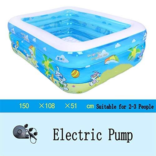Badewanne, Pools Schlauchboot/Pool paddeln Kind/Baby/Familie mit elektrischer Pumpe für 2-3 Personen geeignet Badewannen -, Badewanne