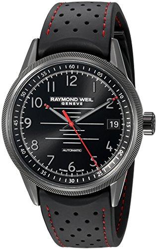 Raymond Weil Freelancer Pilot Automatik Uhr, PVD, 42,5mm, Tag, 2754-BKR-05200 (Raymond Weil Rw)