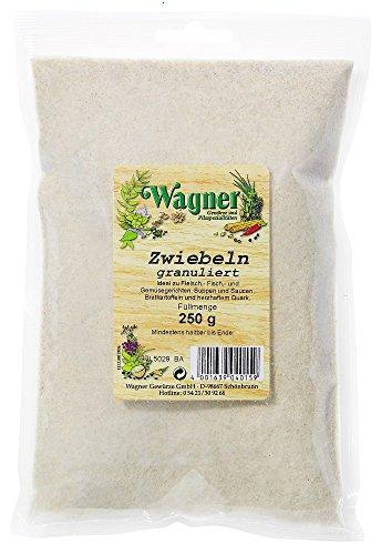 Wagner Gewürze Zwiebeln granuliert 2-er Pack Zwiebelpulver für Fleisch, Fisch, Gemüse & vieles mehr, Zwiebel-Granulat getrocknet, & granuliert, Menge: 2 x 250 g