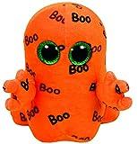 Carletto Ty 37192 Ghoulie Geist mit Glitzeraugen, Glubschi's, Beanie Boo's, Halloween limitiert, Plüsch, 15 cm, orange