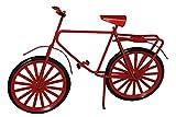 Unbekannt Fahrrad Miniatur aus Metall rot schwarz 15 * 10 cm - für Puppenstube Puppenhaus Maßstab 1:12 / Geldgeschenk