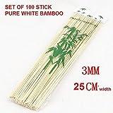Satyam Kraft Bamboo Skewers / Kabab / Bu...